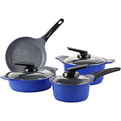 Batería de Cocina 7 Piezas Cerámica Azul