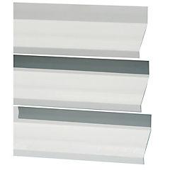 Quiebra vista PVC 80mmx6 m blanco