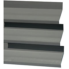 Quiebra vista PVC 80 mm x 6m gris
