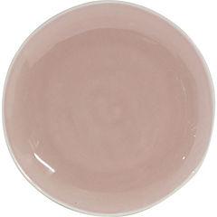 Plato esmaltado rosado 20 cm