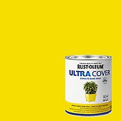 Esmalte al agua Ultra Cover amarillo sol brillante 1/4 galón