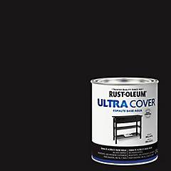 Esmalte al agua Ultra Cover negro brillante 1/4 galón