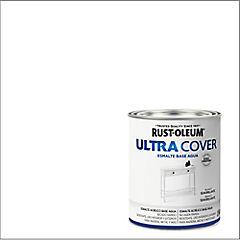 Esmalte al agua Ultra Cover blanco semibrillo 1/4 galón