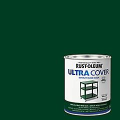 Esmalte al agua Ultra Cover verde oscuro brillante 1/4 galón