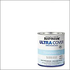 Esmalte al agua Ultra Cover transparente brillante 1/4 galón