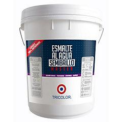 Esmalte al agua semibrillo master blanco 5 gl