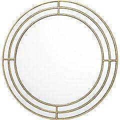 Espejo redondo 80 cm dorado