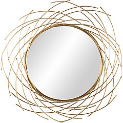 Espejo redondo asimetrico rayos 104 cm