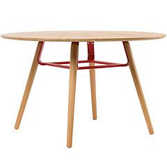 Mesa madera natural rojo