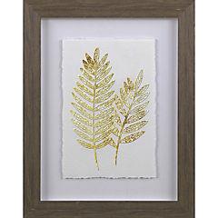 Cuadro hojas doradas 30x40 cm