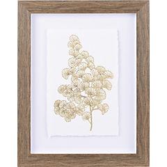 Cuadro ramas doradas II 30x40 cm