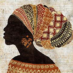 Cuadro madera Mujer Africana II 60x60 cm
