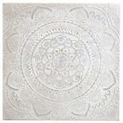 Oleo mandala gris 100x100 cm