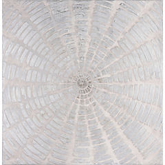 Oleo mandala bloques grises 100x100 cm