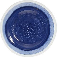Plato esmaltado azul 23,5 cm