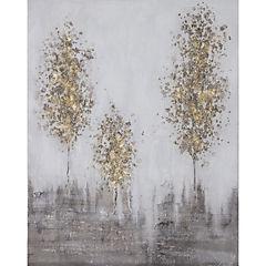 Oleo 3 árbOles invierno 80x100 cm
