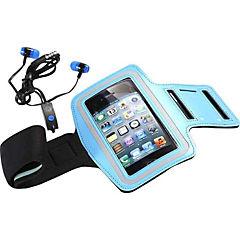 Kit fitness armband + audífonos azul