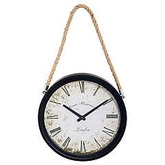 Reloj colgante 30 cm Negro