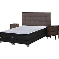 Box Spring King Base Dividida + Muebles Issey