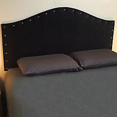 Respaldo de cama king iris tachas gris