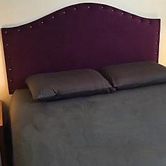 Respaldo de cama 2 plazas iris tachas morado