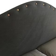 Respaldo de cama 2 plazas iris tachas gris
