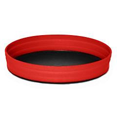 Plato camping plegable rojo