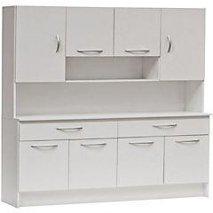 Kit cocina 121x180x36 cm Blanco