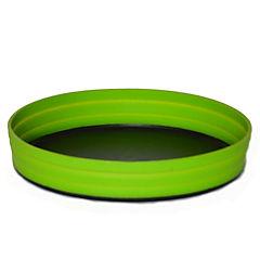 Plato camping plegable verde