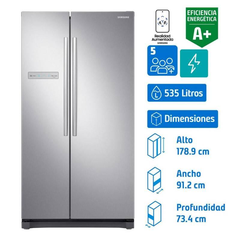 SAMSUNG - Refrigerador side by side 535 litros gris