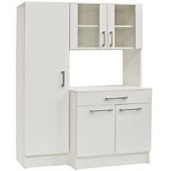 Despensero microondas 5 puertas 1 cajon 95x43x180 blanco