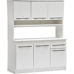 Kit mueble cocina 90x180x38 cm Blanco