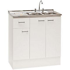 Kit lavaplatos secador derecho 118x47x83 blanco