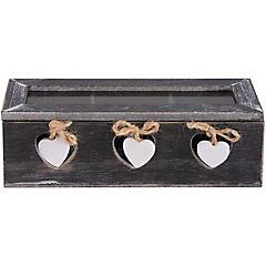 Caja de madera para te 3 divisiones