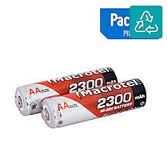 Set de pilas recargables AA 2300 mAh 2 unidades