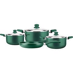 Batería de Cocina 7 Piezas Aluminio Verde
