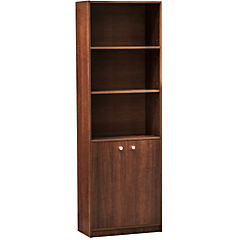 Librero 60x30x180 madera aglomerada/melamina color tabaco c/puerta