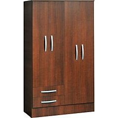 Closet 103,2 X 48,5 X 182,5 + 4 puertas + 2 cajones melamina peral