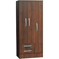 Closet 77,5 X 48,5 X 182,5 + 3 Puertas + 2 cajones melamina tabaco