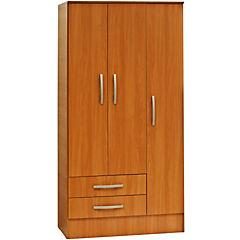 Closet 91,5 X 48,5 X 182,5 + 3 Puertas + 2 cajones melamina peral