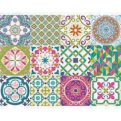Set 12 vinilos adhesivos 15x15 cm nueva Acapulco