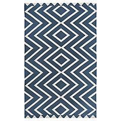 Alfombra Hack azul 150x240 cm