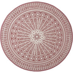 Alfombra Odette rosa 150 cm