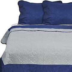 Quilt Liso queen Techno Azul