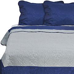 Quilt Liso king Techno Azul