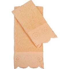 Set 2 Toallas Bordeprint Lace 30x45/40x70 cm damasco