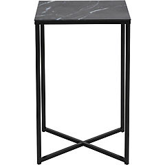 Mesa lateral 45x35x70 cm negra
