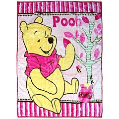 Cobertor de cuna Winnie The Pooh rosado 110x140 cm