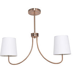 Lámpara de colgar cobre 2 luces E27 60w