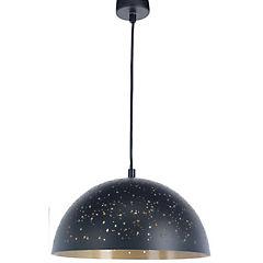 Lámpara de colgar Metal Space Negro y Dorado